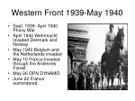 western front 1939 may 1940