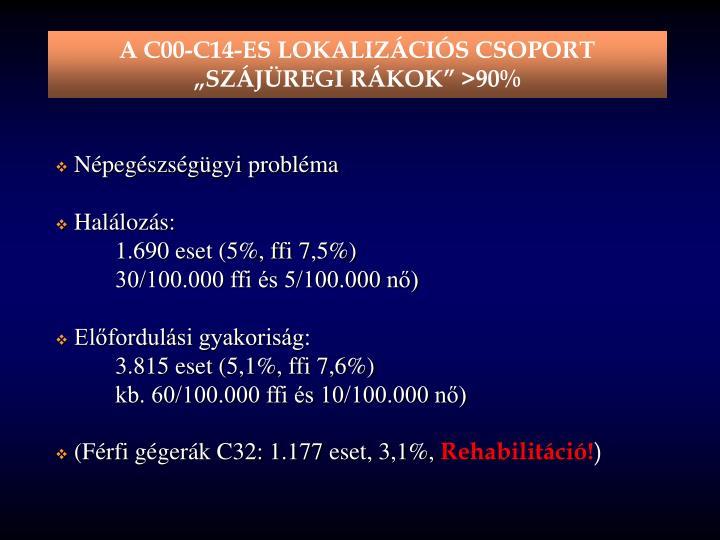 A C00-C14-ES LOKALIZÁCIÓS CSOPORT