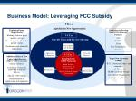 business model leveraging fcc subsidy