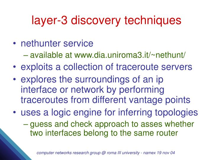 layer-3 discovery techniques
