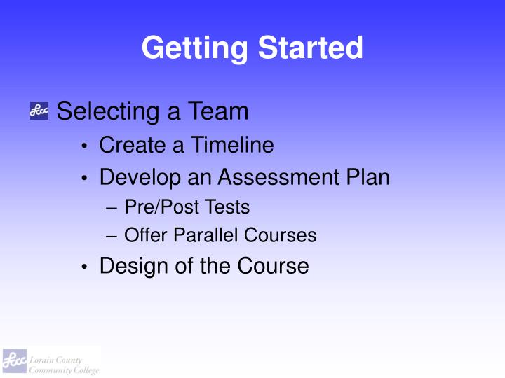 Getting started1