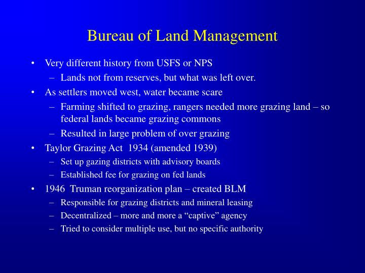 Bureau of land management1