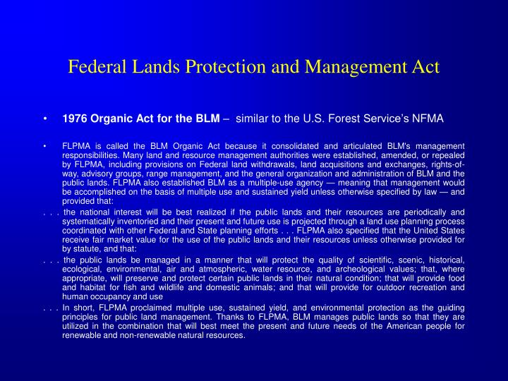 Federal Lands Protection and Management Act