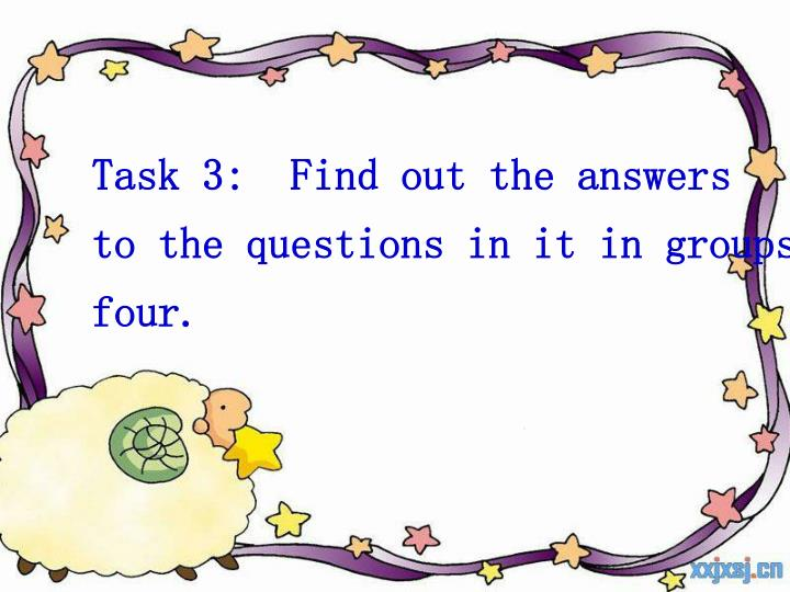 Task 3:  Find out the answers