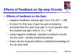 effects of feedback on op amp circuits