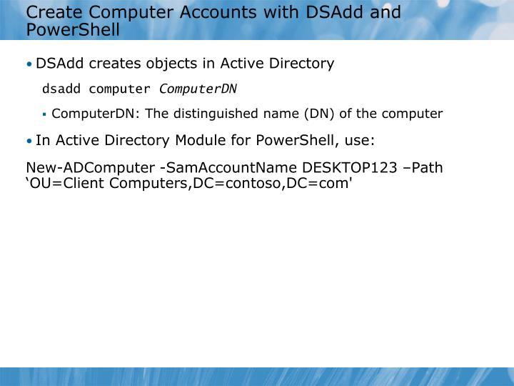 Create Computer