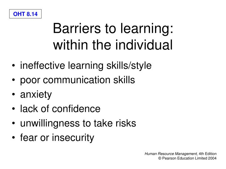 ineffective learning skills/style