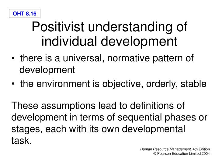 there is a universal, normative pattern of