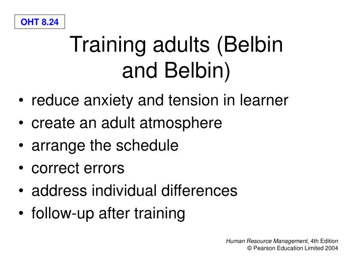 reduce anxiety and tension in learner