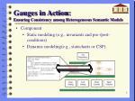 gauges in action ensuring consistency among heterogeneous semantic models