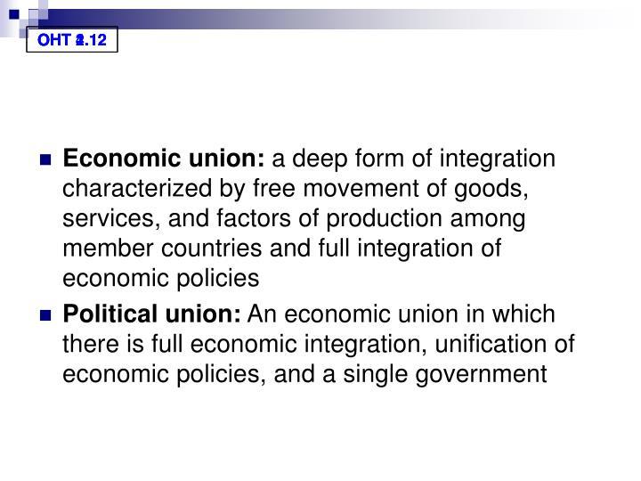 Economic union: