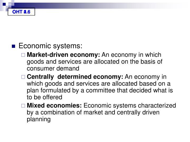 Economic systems: