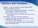 buffers and variables