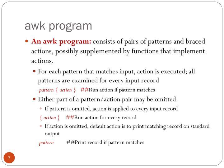 awk program
