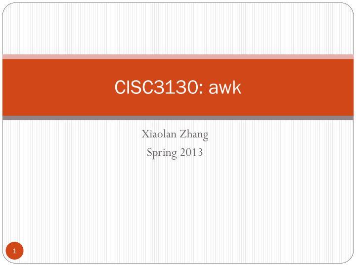 Cisc3130 awk