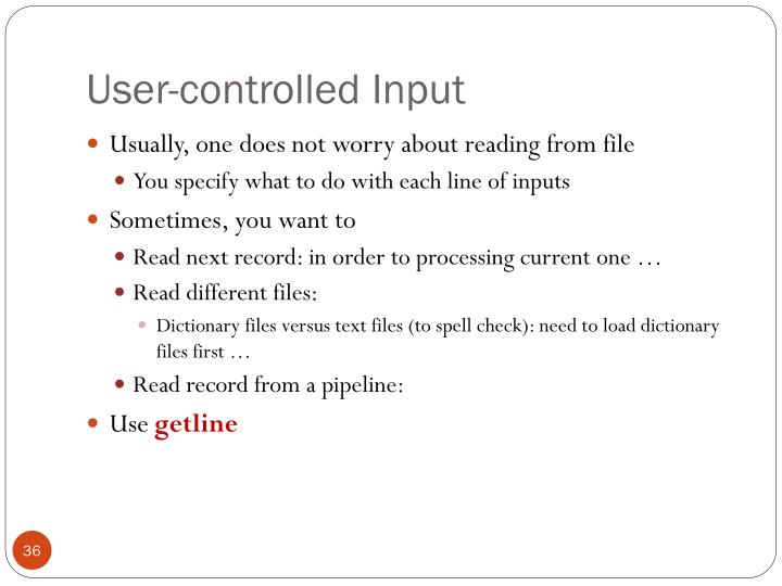 User-controlled Input