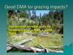 good dma for grazing impacts