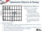 optimization objective strategy