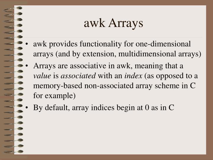 awk Arrays