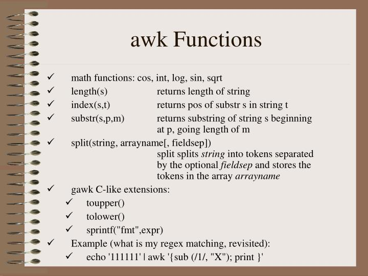 awk Functions