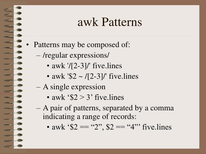 awk Patterns