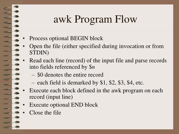 awk Program Flow