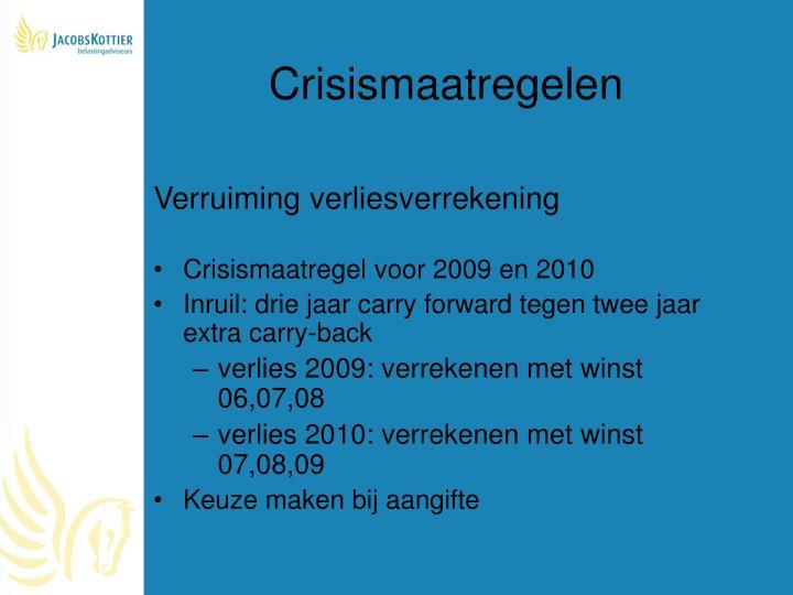 Crisismaatregelen