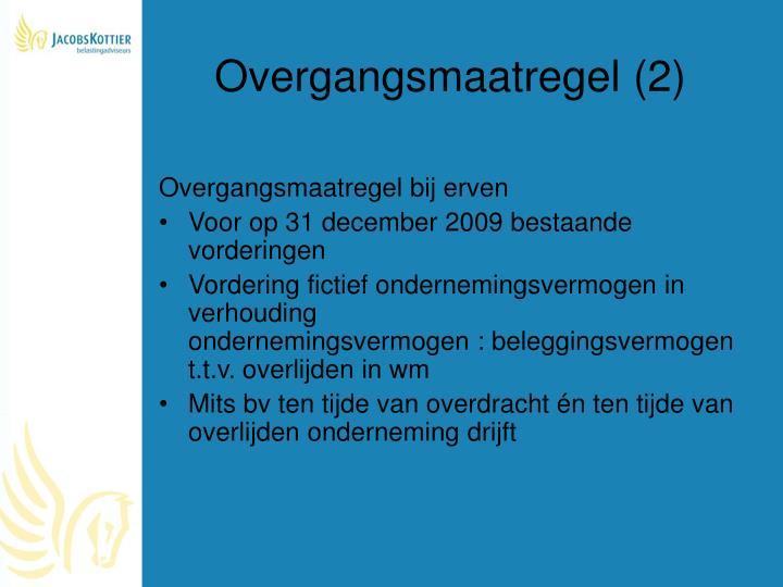 Overgangsmaatregel (2)
