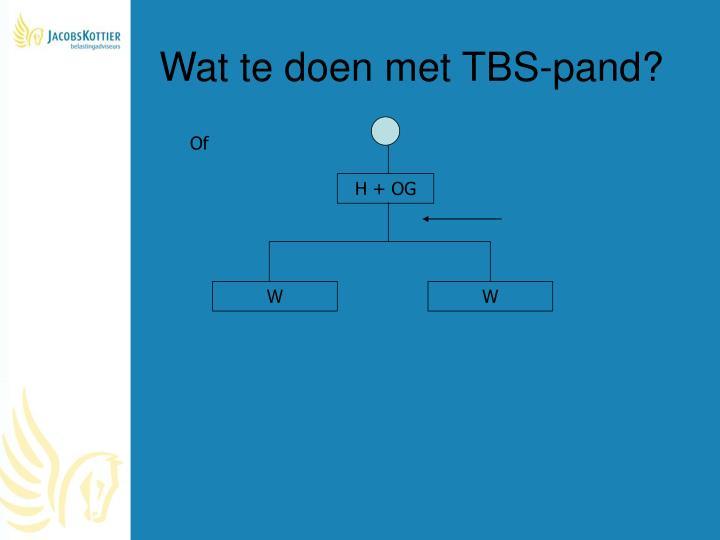 Wat te doen met TBS-pand?