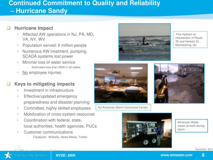 Continued Commitment to Quality and Reliability