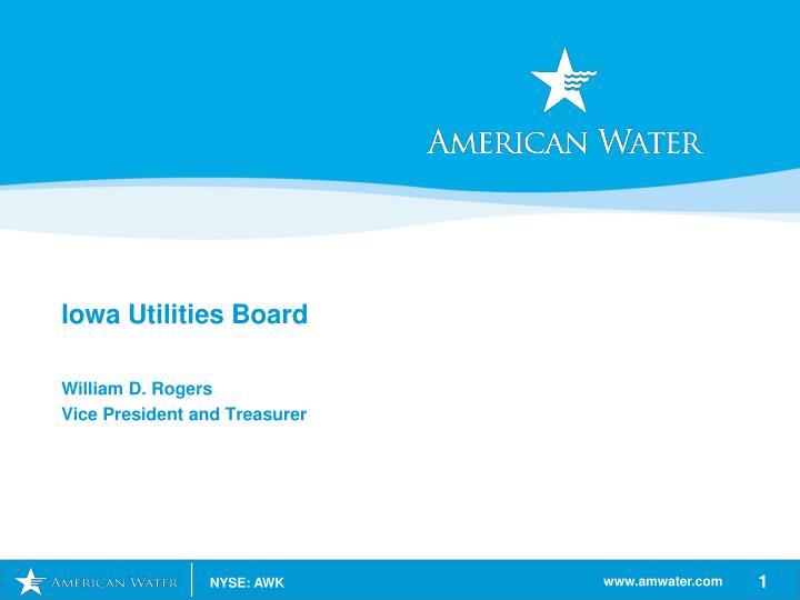 Iowa utilities board