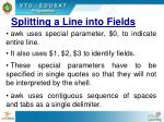 splitting a line into fields