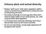 enhance plant and animal diversity