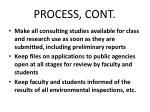 process cont