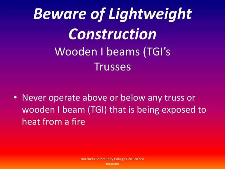 Beware of Lightweight Construction