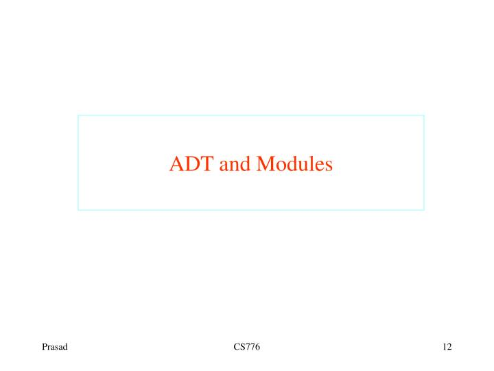ADT and Modules