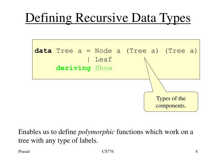 Defining Recursive Data Types