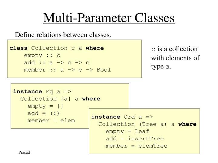 Multi-Parameter Classes