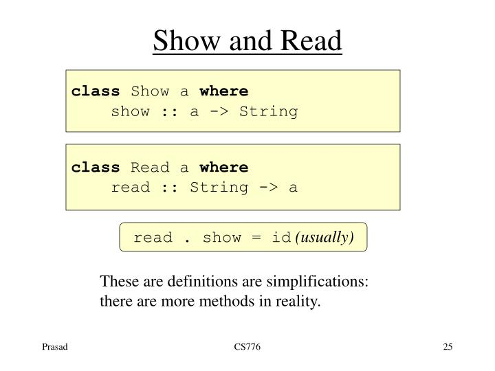 Show and Read