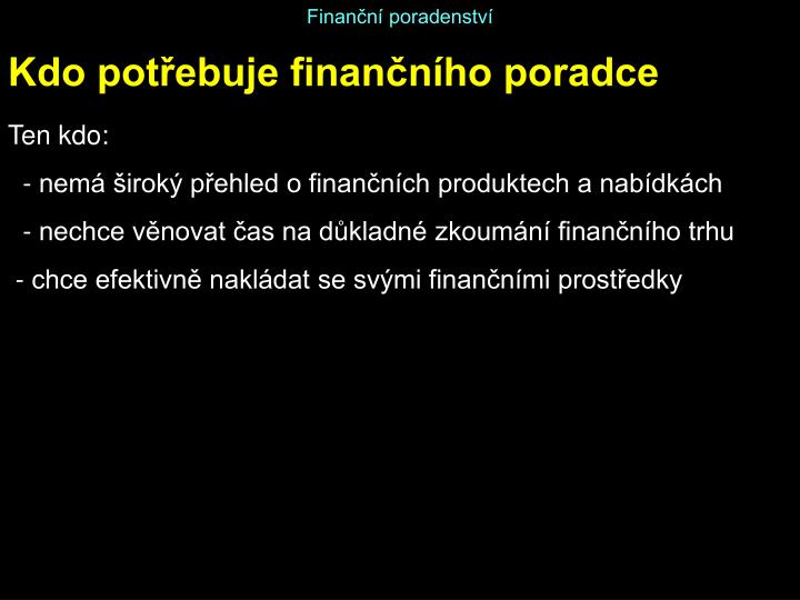 Finanční poradenství