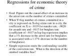 regressions for economic theory of crime