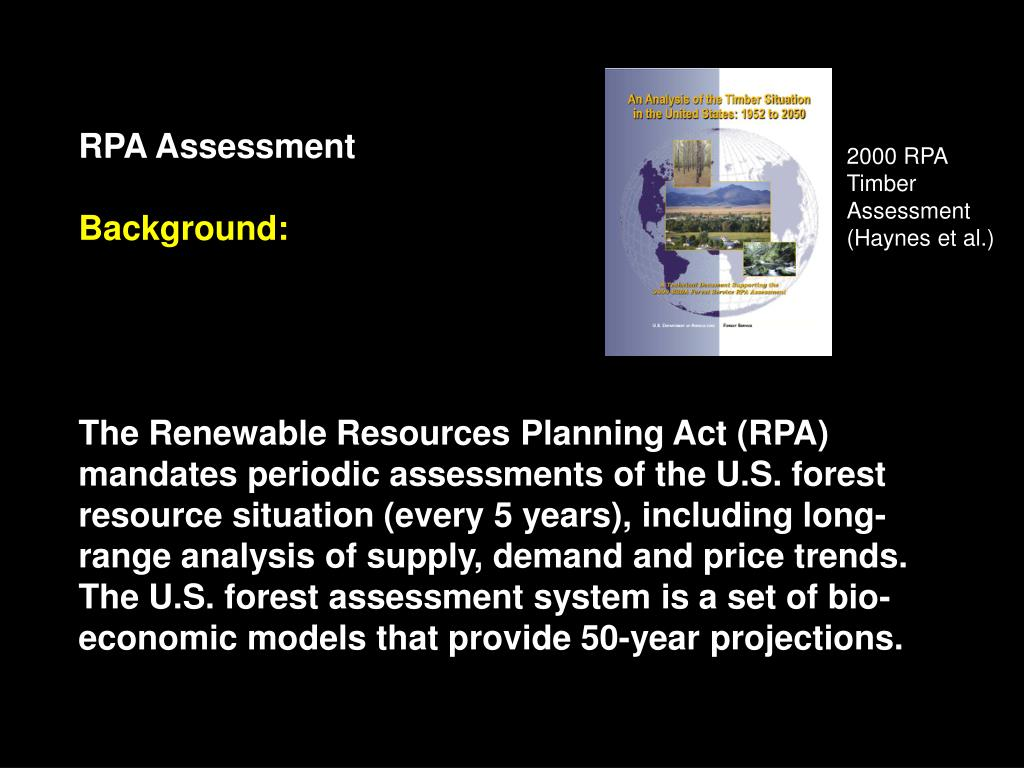 PPT - Modeling Bioenergy in the U S  Forest Service's RPA