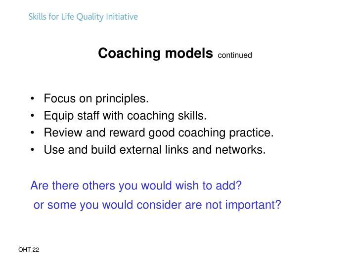 Coaching models