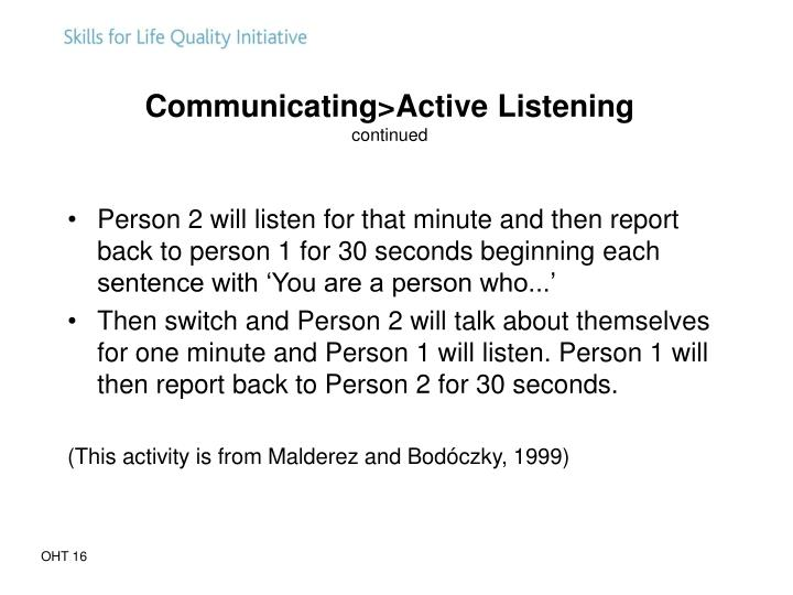 Communicating>Active Listening