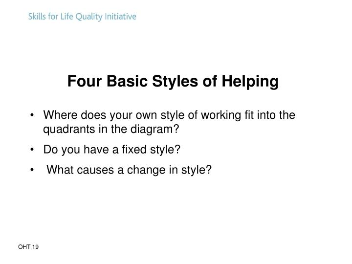 Four Basic Styles of Helping