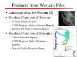 products from western pilot