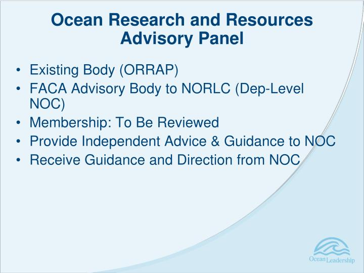 Ocean Research and Resources