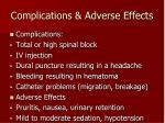 complications adverse effects