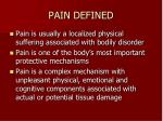 pain defined