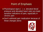 point of emphasis